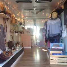 Mobile boutique, fashion truck and art store based in Denver, Colorado. Shop unique finds on Etsy. Retail Boutique, Mobile Boutique, Boho Boutique, Mobile Shop, Boutique Interior, Boutique Ideas, Mobile Fashion Truck, Mobile Coffee Shop, Mobile Business