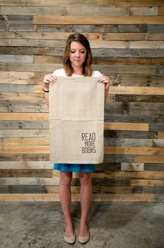 Read More Books Linen Tea Towel by weatherandnoise on Etsy, $14.00