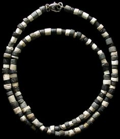 Ancient Sumerian and Mesopotamian 3,000 -- 2,000 BC. Sumerians valued jewelry as a sign of status and wealth. Each bead was carved with great care, and drilled through with pinpoint accuracy, a stunning achievement given the technology available at the time.