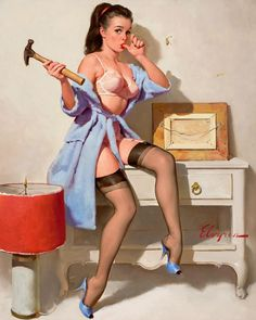 Classic Pin Up - Girls at Work: Pin Up and Cartoon Girls, Elvgen