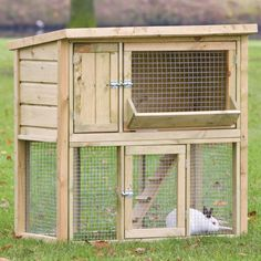 Add to other hutch idea maybe like this? Remove ladder in winter and close off bottom