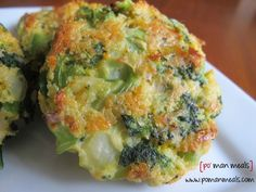 cheesy roasted broccoli patties