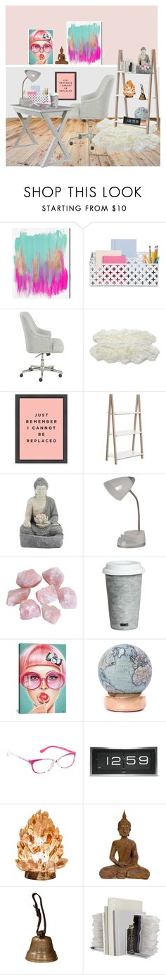 """""""Buddha Got My Back"""" by taste-for-life ❤ liked on Polyvore featuring interior, interiors, interior design, home, home decor, interior decorating, Oliver Gal Artist Co., Serta, Luxe Collection and Safavieh"""