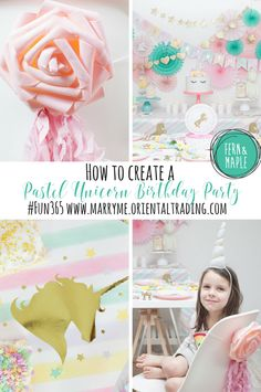 Magical Pastel Unicorn Party #fun365 #partyideas #unicornparty #kidsparty #parties #diyparty