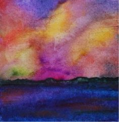 Painting Maine Lake Storm Rolling In Framed by watermediaworks