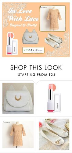 """""""In Love With Lace - Elegant"""" by magiciancat on Polyvore featuring Laneige, DEEPNY, Pastel Pairs, lacedress, Dailylook, yesstyle and productPageSectionTop"""