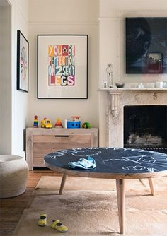 Add Chalk Paint to a Wood Coffee Table
