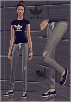 Sims York City: 42- Sportswear with Adidas T-Shirt