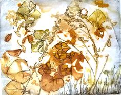 Drawing on ecoprinted paper - Cherie Livni