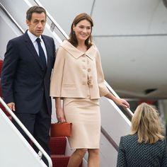Slideshow: Carla Bruni's Best First Lady Moments -- The Cut French First Lady, Carla Bruni, Looks Chic, Parisian Chic, Office Fashion, Carolina Herrera, Fashion Outfits, Womens Fashion, Pretty Outfits