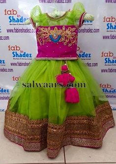 Maggam Work Blouse with Lehenga - Indian Dresses