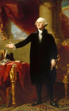 Official White House Portrait of George Washington - 1st President of the United States