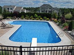 60 Amazing Lazy L Swimming Pool Ideas - About-Ruth Backyard Pool Landscaping, Backyard Pool Designs, Pool Fence, Landscaping Ideas, Pool Paving, Backyard Ideas, Dream Pools, In Ground Pools, Cool Pools