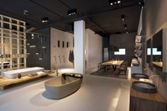 NEUTRA Flagship Store in milan - water_wellness_stone. #bathroom #spa #design #bathtube