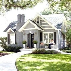 Top 50 Best Exterior House Paint Ideas - Color Designs Exterior Paint Colors For House, Paint Colors For Home, Exterior Colors, Paint Colours, Grey Exterior, Gray Exterior Houses, Cottage Exterior, Wall Colors, Style At Home