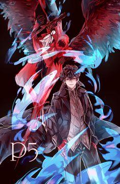 Joker and Arsene Persona 5 Ann, Persona 5 Joker, Anime Villians, Anime Characters, Anime Demon, Manga Anime, Ren Amamiya, Boys Anime, Best Rpg