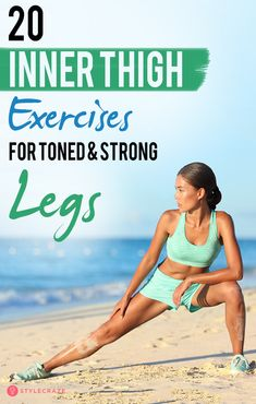 Inner thigh exercises are great for shaping and toning your thighs. The adductors or inner thigh muscles run from the groin to the knees. Home Strength Training, Strength Training For Beginners, Inner Thight Workout, Pilates, Tone Inner Thighs, Inner Thigh Muscle, Thigh Muscles, Strong Legs, Thigh Exercises