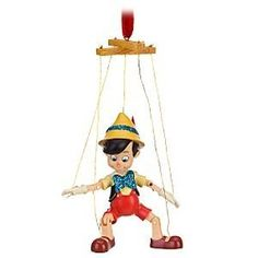 """I love collecting Disney ornaments. This so just got added on to my """"to buy"""" list. Disney Christmas Decorations, Xmas Tree Decorations, Christmas Tree Ornaments, Pinocchio, Marionette, Peanuts Christmas, Disney Traditions, Hallmark Ornaments, Star Ornament"""