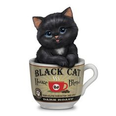 Kayomi Harai Dark Roast Coffee Mug Cat Figurine from Theby The Hamilton Collection Animals And Pets, Cute Animals, Cheap Pet Insurance, Online Katalog, Cat With Blue Eyes, Unique Cats, Arte Disney, White Cats, Black Cats