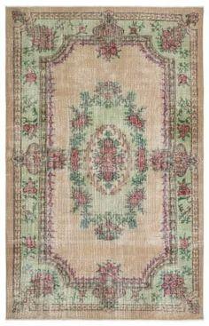 Vintage vloerkleed, zalm, 294cm x 185cm | Rozenkelim.nl - Groot assortiment kelim tapijten