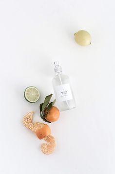 DIY citrus blend room spray with printable label