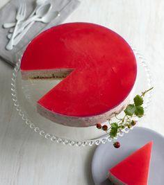 Rhubarb-Mascarpone Mousse Cake Recipe at Epicurious.com