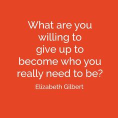 This question came from Elizabeth Gilbert's Facebook page earlier this week. She's at TED 2014 in Canada and posed the question to attendees - and man did it get me thinking! I tweeted it and it's ...