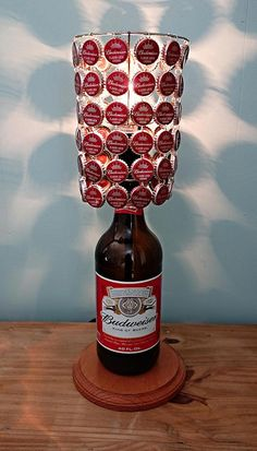 Budweiser 40 Oz Bottle Lamp Complete With Bottle Cap Lamp Shade by LicenseToCraft, $60.00