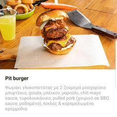 #pitburger #burger #delicious😋 #yummy #meatlab #meatlabathenshellas Mayo Sauce, Athens, Hamburger, Chili, Lab, Pork, Ethnic Recipes, Kale Stir Fry, Chile
