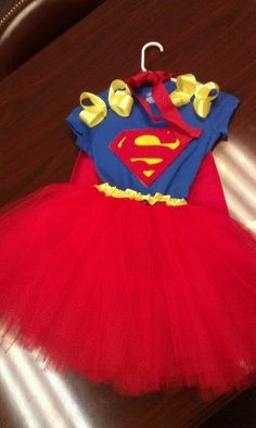 Superhero themed tutu dress costume by PrettyEverAfter on Etsy