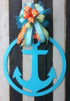 Finished Wooden Anchor - Door Hanger/Sign by CharlieAndDarlas on Etsy https://www.etsy.com/listing/236644036/finished-wooden-anchor-door-hangersign