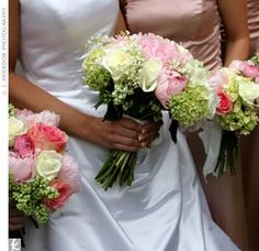 Bouquet of hydrangeas and roses.