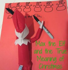 Elf on the Shelf ideas to incorporate the True Meaning of Christmas. Max our Elf is still mischievous but he is working very hard at making good choices this season too!