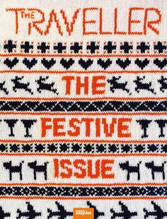 The absolutely brilliant cover of easyJet's The Traveller is a handknit jumper, just in time for the festive season!