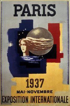 ¤ L'Expo internationale de 1937 est programmée dès 1934 et c'est le tout nouveau gouvernement du Front Populaire, élu en mai 1936, qui inaugure dans les gravats et la discorde nationale l'Exposition internationale des Arts et Techniques appliqués à la vie moderne.