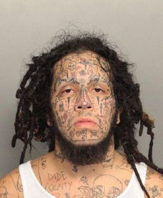 3cdc0f3870a39 Mugshot face tattoo Worst Tattoos Horrible Tattoos Awful Bad Tattoos ... Worst  Tattoos,