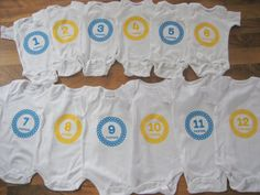 Make baby onesies for each month of their first year. Capture each stage. They grow so fast!