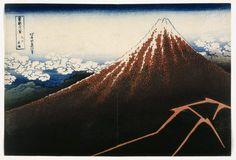Brooklyn Museum - A Shower Below the Summit from the series Thirty -six Views of Mount Fuji (Fugaku sanjurokkei) - Katsushika Hokusai - Katsushika Hokusai - Wikipedia, la enciclopedia libre