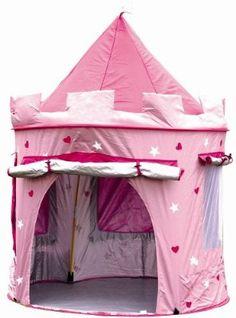 Kinderspielzelt zum Aufstellen in Form einer Burg (zur Verwendung drinnen oder draußen) für Mädchen Pink/ Lavendel