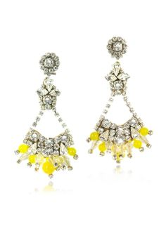 Radà Yellow Crystals Drop Earrings