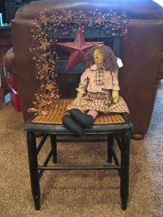 Primitive Crafts | Primitive Chair... | Primitive Craft Ideas 2