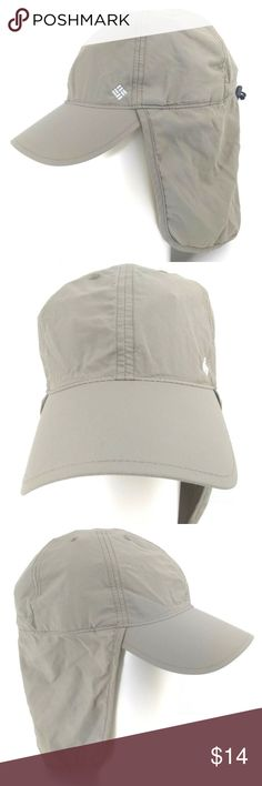 Columbia PFG Omni Shade Fishing Hat Cap Unisex Columbia Fishing Hat Cap  Neck Flap Beach Hiking Unisex Omni-Shade Freeze PFG Barely used or maybe  not used at ... c36a67b7c29c