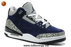 Suede Navy Blue/White Cement Air Jordan 3 III