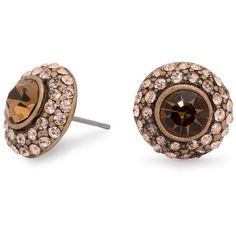 Vintage brown crystal surround stud earring ($3.48) ❤ liked on Polyvore featuring jewelry, earrings, accessories, aros, women's clothing, crystal jewelry, brown crystal jewelry, vintage crystal jewelry, stud earrings and crystal stone jewelry