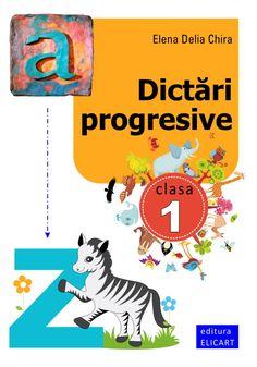 Clasa I : Dictări progresive Preschool Activities, Homeschooling, Free Printables, Comic Books, Teaching, Free Printable, Cartoons, Education, Comics
