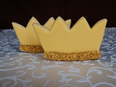 12 Crown King Cookies with White Ribbon from Where the Wild Things Are for Kid's Party, Favors, Birthdays by CuisineThymeDesigns on Etsy https://www.etsy.com/listing/217555650/12-crown-king-cookies-with-white-ribbon