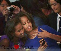 1st Daughters Malia And Sasha Obama....  Teenagers...
