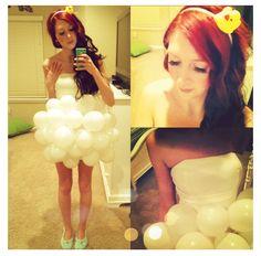DIY Bubblebath Costume - Like the rubber ducky headband!