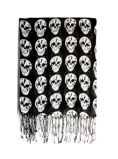 """Xerox Skull"" Scarf (Black) #InkedShop #skulls #scarf #accessories #style #fashion"