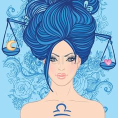 Vector of 'Illustration of libra zodiac sign as a beautiful girl. Vector illustration.' on Colourbox